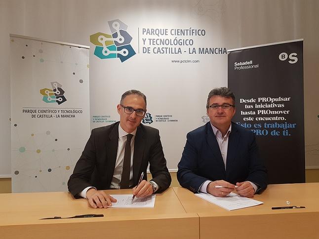 Banco Sabadell y PCTCLM firman acuerdo de colaboración financiera.