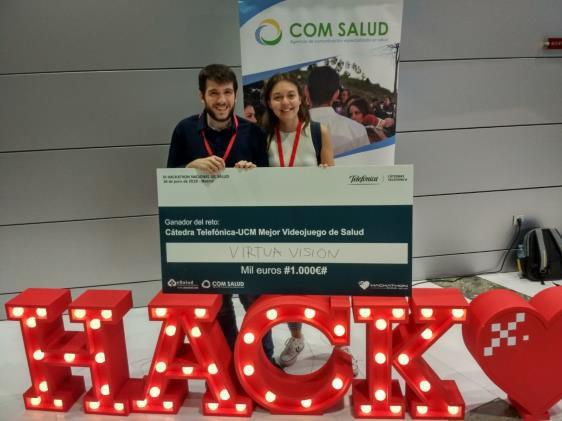Virtual DuckEye gana el III Hackathon de Salud en el Reto Cátedra Telefónica al mejor videojuego de Salud