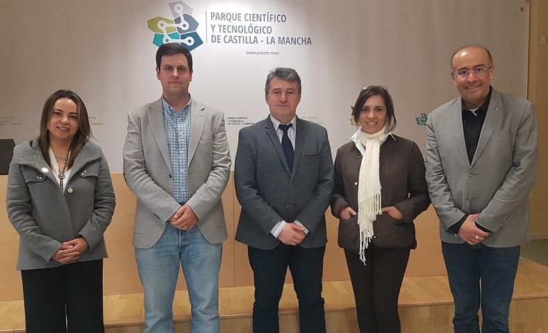 Representantes de la Universidad Santo Tomás  de Colombia visitan el Parque Científico y Tecnológico de Castilla La Mancha.