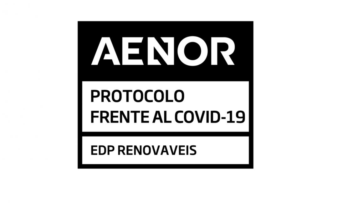 EDP Renovables obtiene la certificación AENOR por sus protocolos de gestión COVID-19