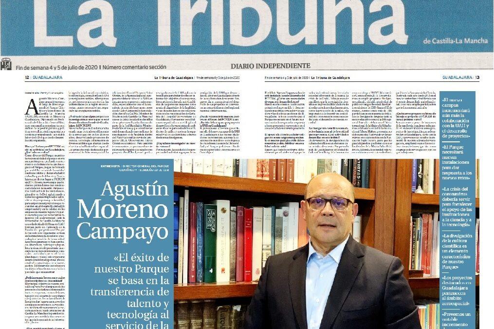 La Tribuna de Guadalajara entrevista a nuestro director, Agustín Moreno