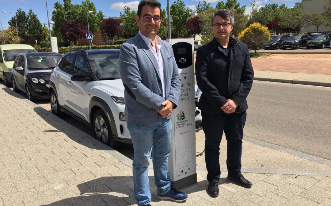 Instalación de un punto de recarga para vehículos eléctricos en el PCTCLM